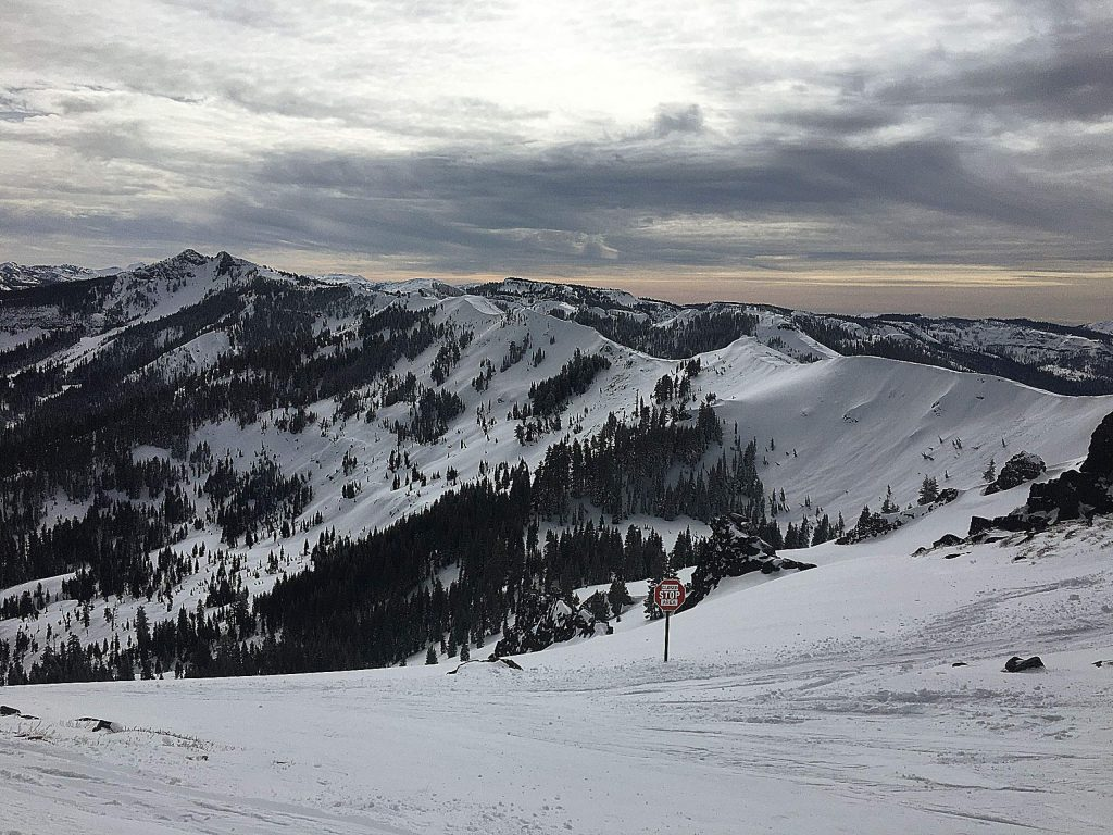 High traverse Friday afternoon at Alpine Meadows.