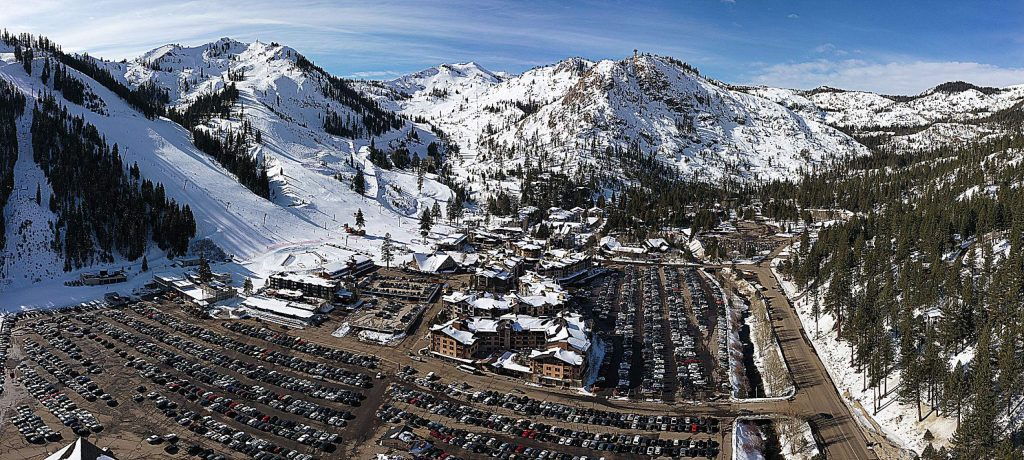 The Squaw Valley parking lot on Jan. 20, 2020.