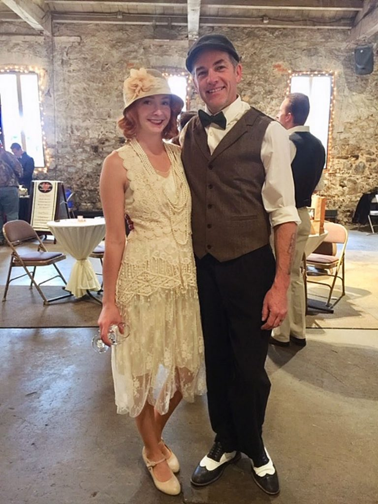 Beautiful swing dance couple, AJ and Hanna, at Chocolate Infusion at the Miner's Foundry on Sunday.