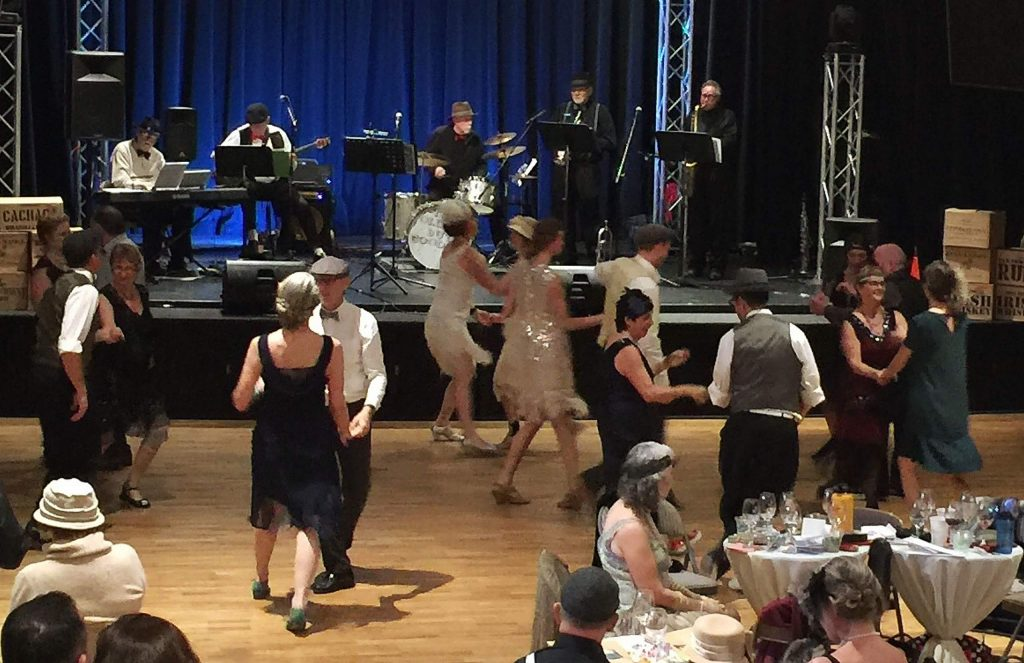 """Chocolate Infusion Event"" infused with live band and fabulous swing dancers in period costumes."