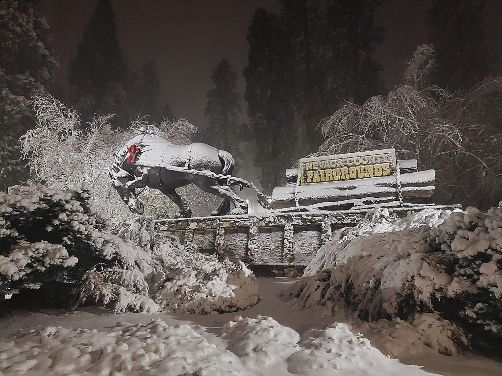 Remembering the early snowfall in December in Grass Valley.