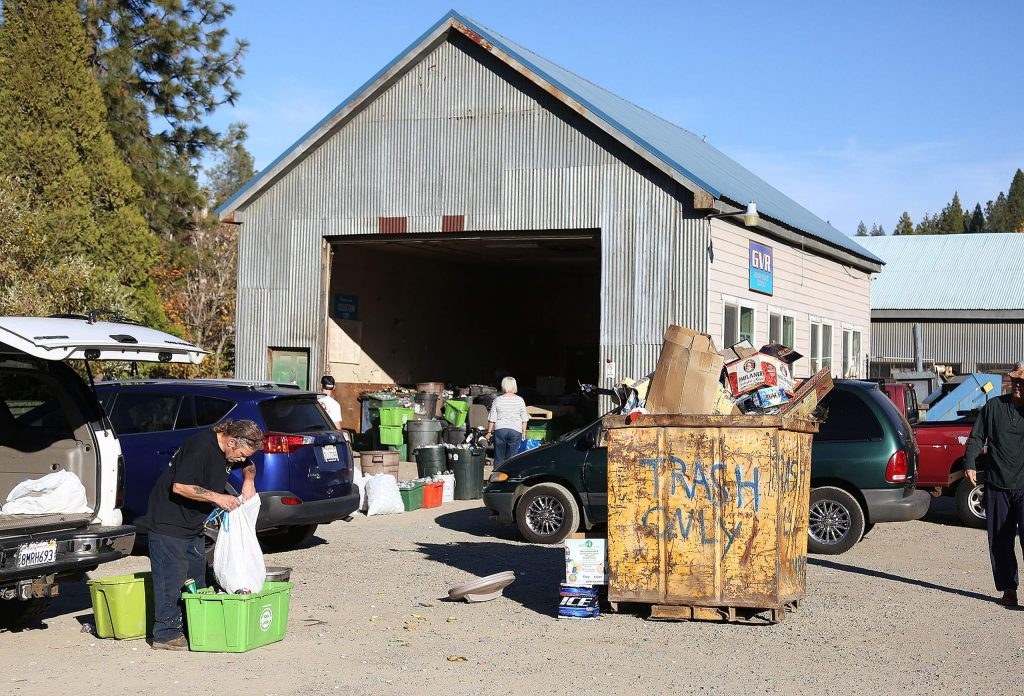 Grass Valley Recycle shares property with Celestial Valley Towing off Idaho Maryland Road. The recycling center planned to close in November, but remained open because it was able to still make a profit off non-CRV materials.