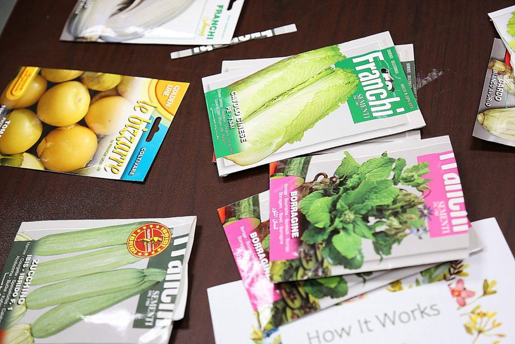 This collection of seeds brought from Italy by a seed swapper were very popular during Saturday's library event.