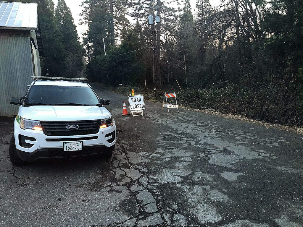 Around 5 p.m. New Year's Day Nevada County Sheriff's Office volunteers were preventing individuals from entering Oak Street, where a release states officers shot an armed man earlier that day.