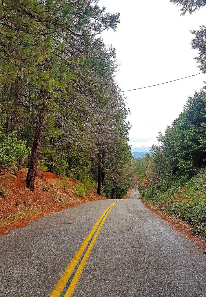 Burma Road, off Highway 174, is a picture perfect country road Monday afternoon, ahead of a series of winter storms.