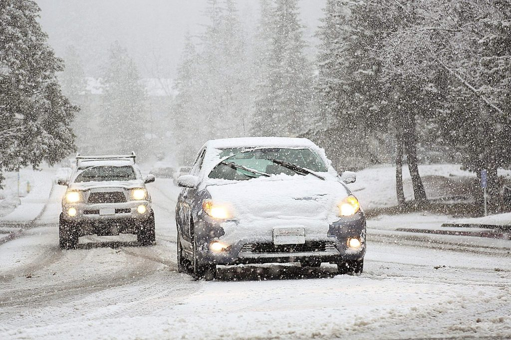 Low snow snarled traffic in and around Grass Valley and western Nevada County Thursday afternoon. Vehicle collisions and spinouts occurred along most major thoroughfares.