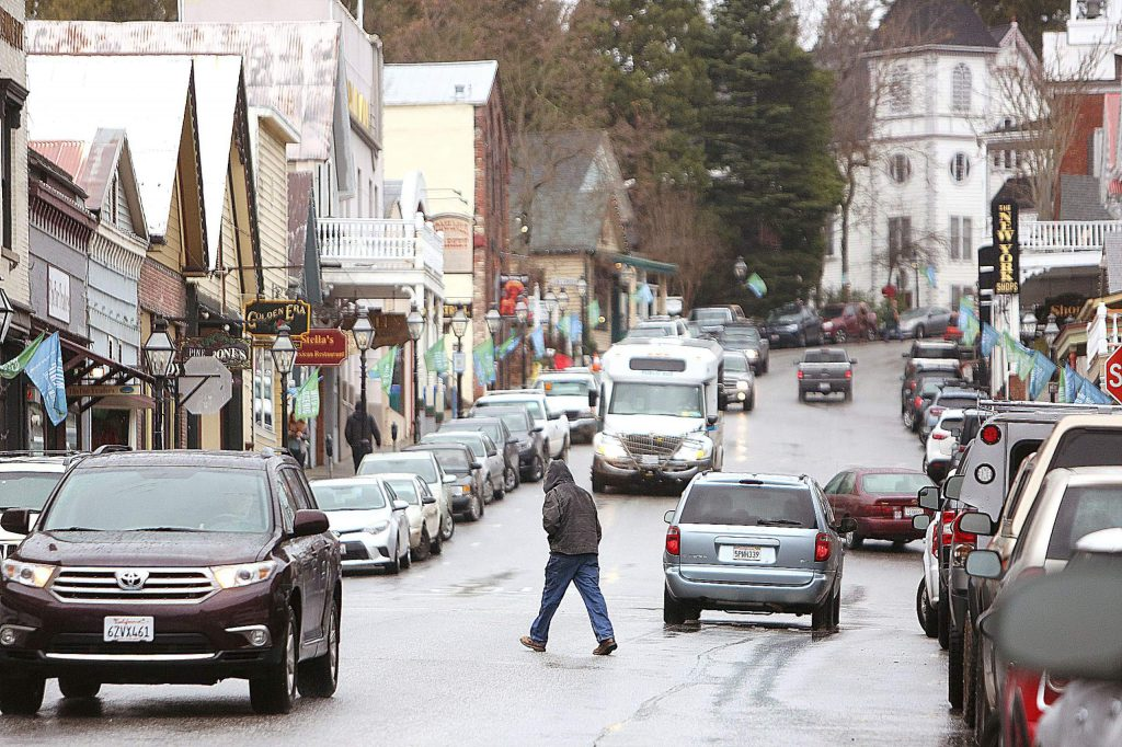 Tuesday's rain didn't put too much of a damper on life as usual in Nevada County.