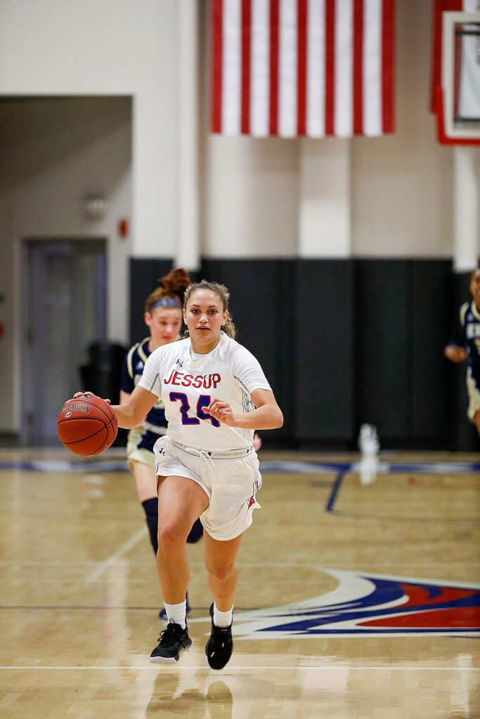 Aycee Willis, pictured here during a game earlier this season, is averaging 11.7 points per game and 4.5 rebounds this season for the William Jessup Warriors.