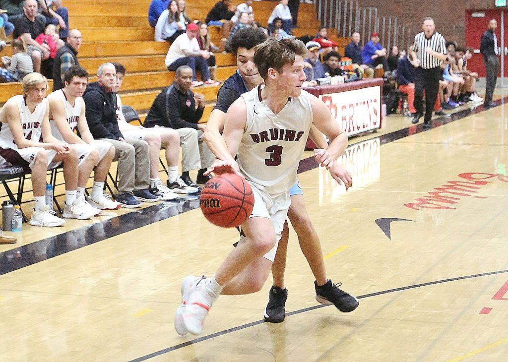 Bear River senior Brekyn Vasquez (3) has the ball stolen while he's not looking from a Center High School defender during Wednesday's loss to the Cougars.