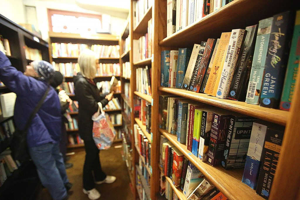 There are thousands of paperback and hardback books including fiction, nonfiction, children's and collectibles, etc. This month's sale featured poetry, paperback fiction and fairy books. Most books cost between 50 cents and $3 and folks are welcome to donate gently used books for the cause.