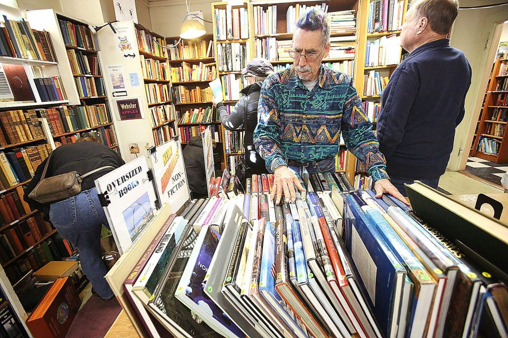 The Friends of the Nevada County Libraries hosted their first Saturday of the month book sale from 9 a.m. to 3 p.m. at the Doris Foley Historical Library where book sale bookie Eric Flaherty could be seen helping keep the books in order during the once a month sale.
