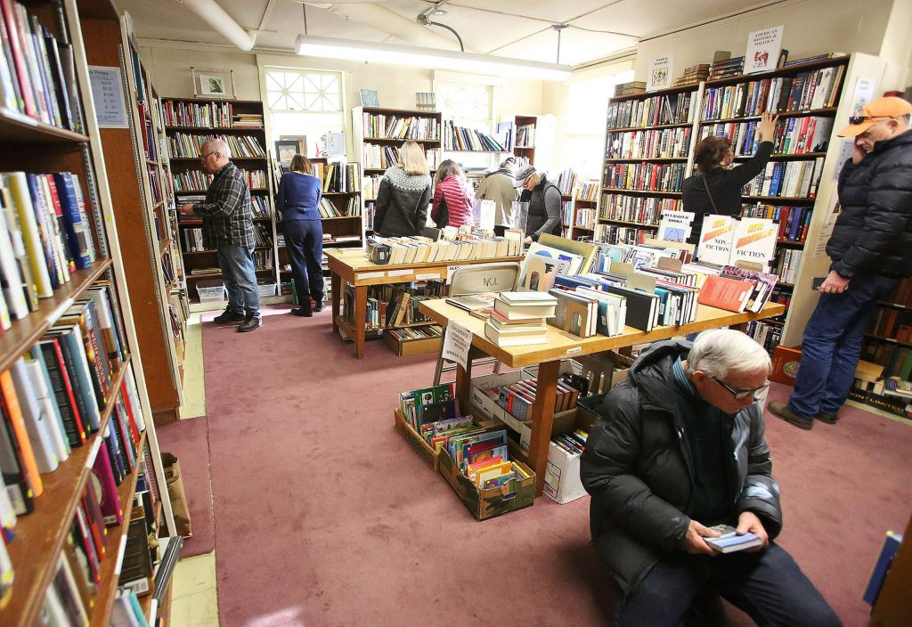 Book readers and book dealers can be seen scouring the shelves in search of the books that can be worth money, or that pique their interest.