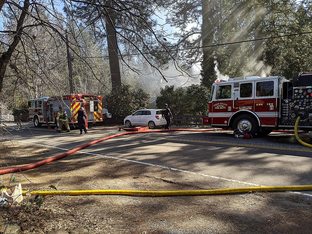 Firefighters got the call about a structure fire just before noon and had it contained by 12:45 p.m.