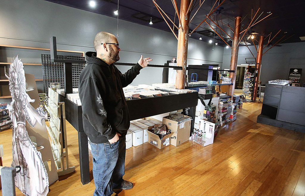 Grass Valley Games' owner Zak Lewis still has some work left to make his new location on Mill Street everything that he wants it to be. Lewis has built new racks for comics and plans to have mini-war gaming tables and an area for seating.