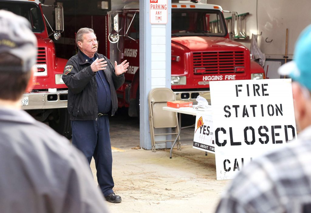 Fire Chief Jerry Good started his career at the now closed Dog Bar Fire Station 22 in the Higgins Fire District where the proposed Measure I tax would take place if voted for.