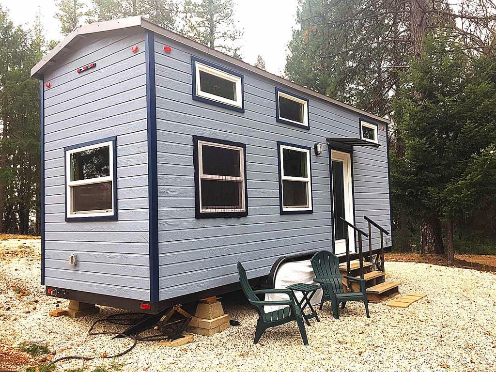 Fabricius' tiny home off You Bet Road listed on Hipcamp. The host has been putting her property on Hipcamp for a few years.