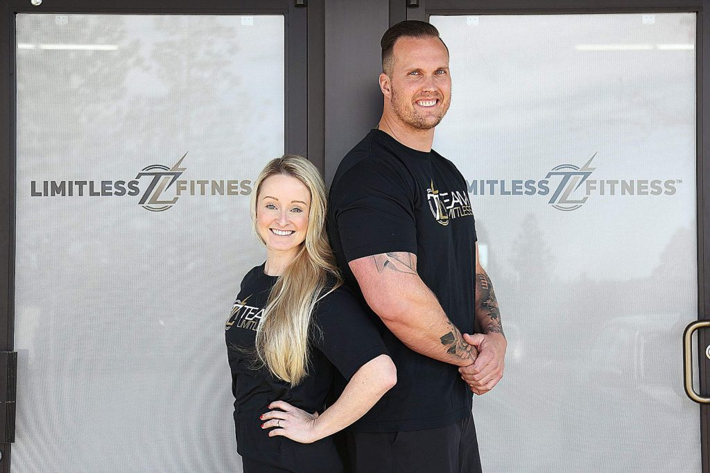 Local fitness coaches Courtney Parker and Matt Reiswig are now the co-owners of Limitless Fitness located off Whispering Pines Lane in Grass Valley.