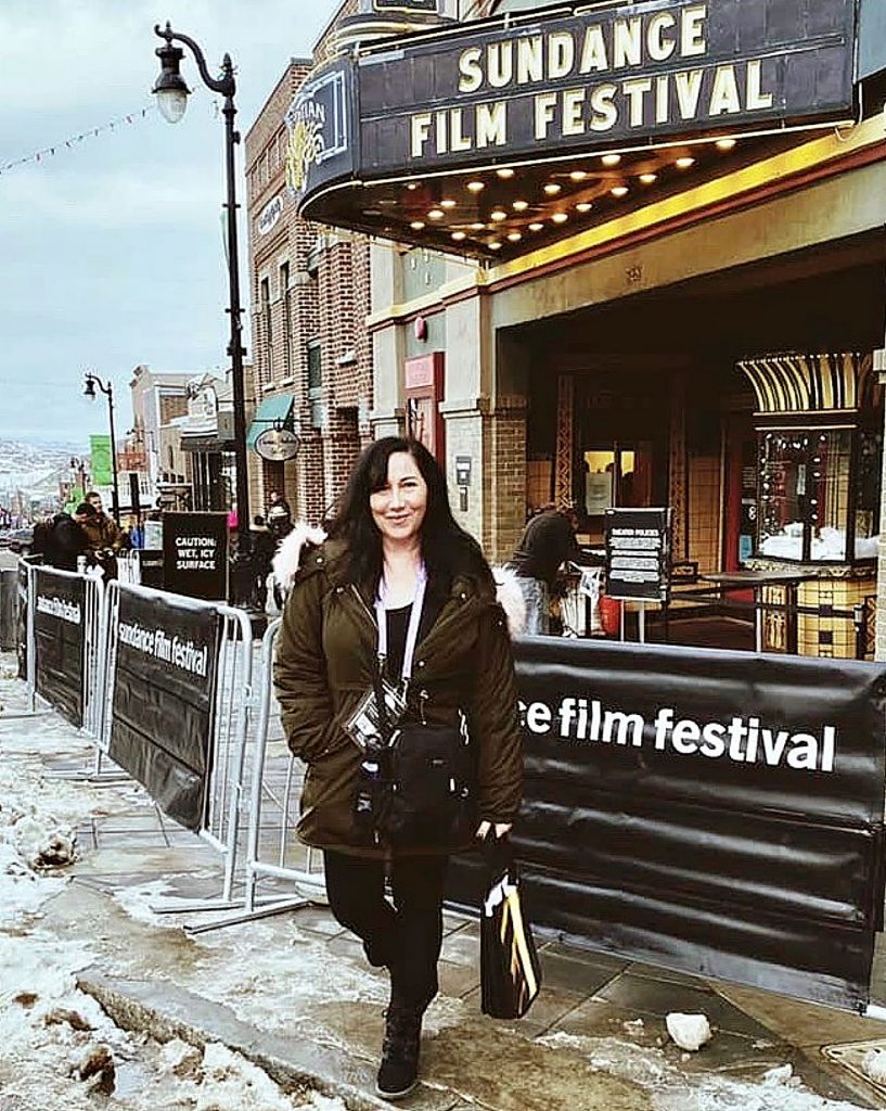 Onyx Theatre General Manager Celine Negrete visited the iconic Egyptian Theatre during her visit to the Sundance Film Festival in Park City, Utah.