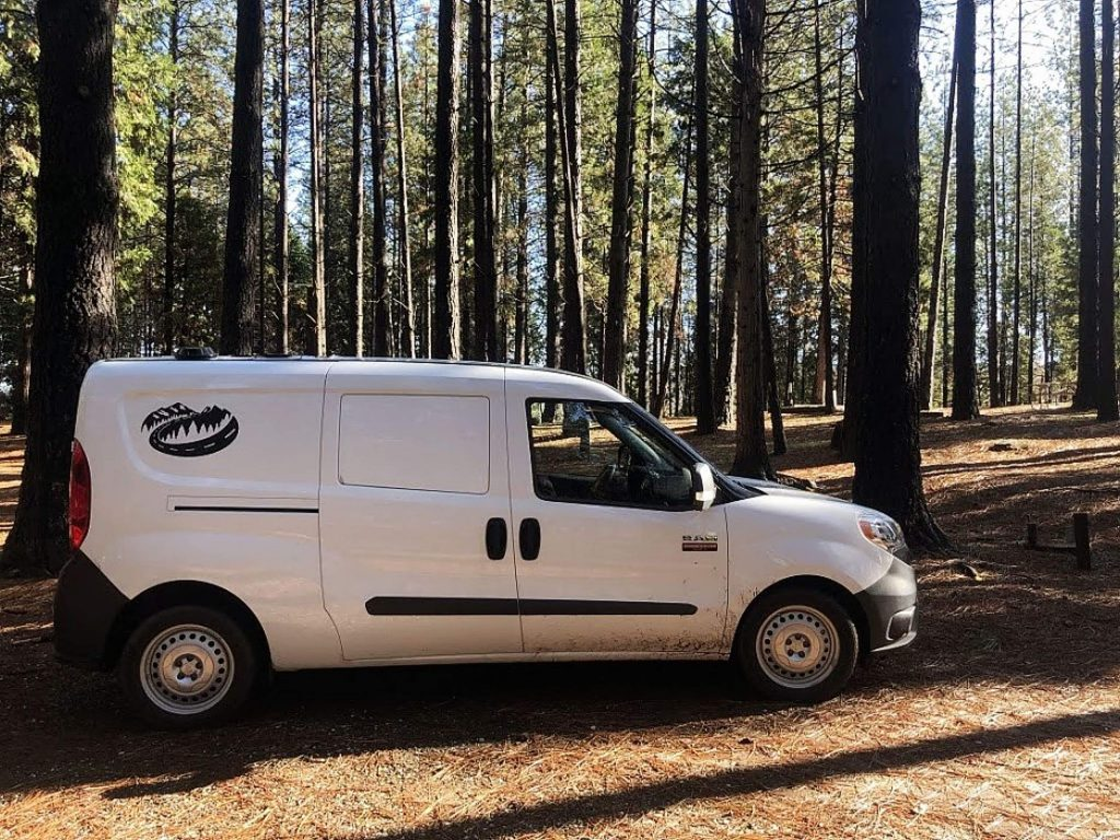 Cascade Campers are RAM ProMaster City cargo vans that are modified by the Grass Valley company for camping.