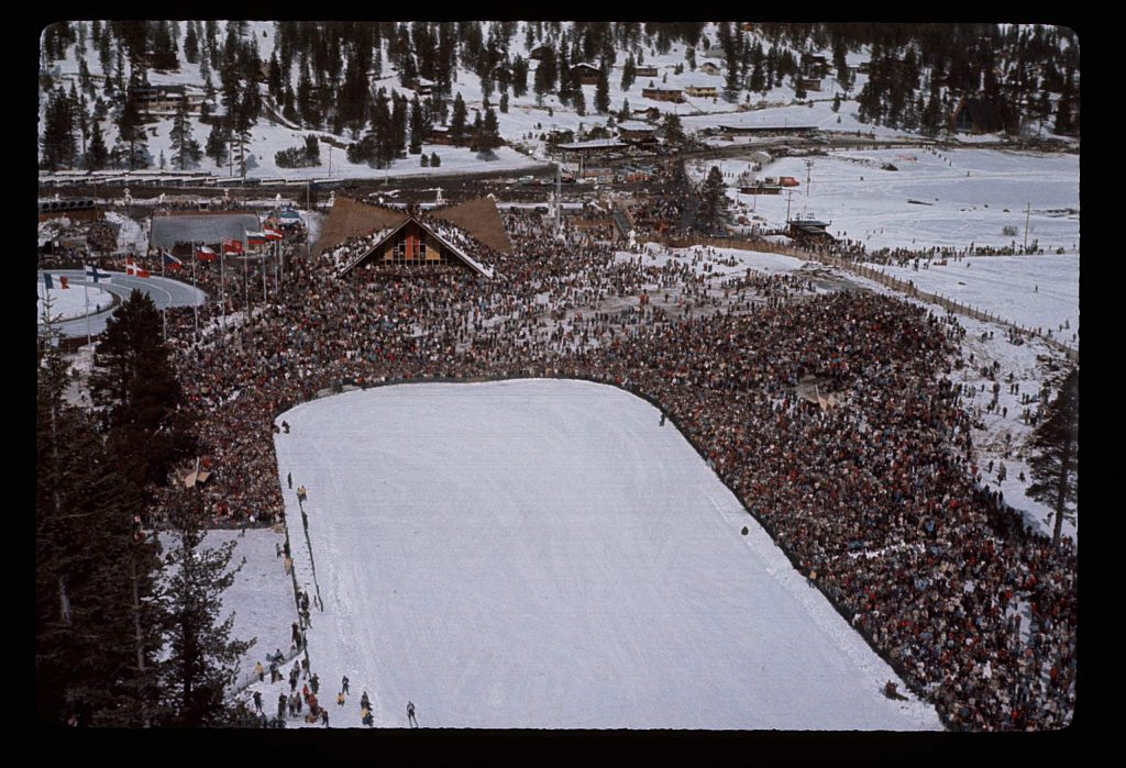 The 1960 Olympics in Squaw Valley introduced women's speed skating and biathlon as Olympic events.
