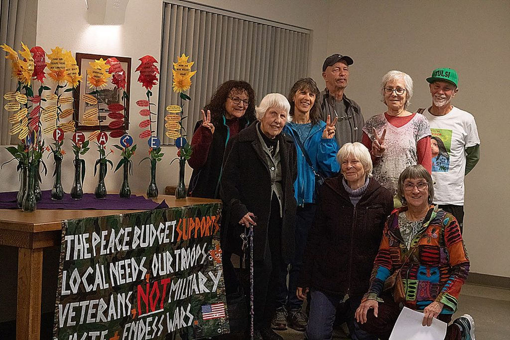 Peace budget resolution activists have pushed local governments and organizations to sign on to their non-binding proposal to shift federal spending priorities.