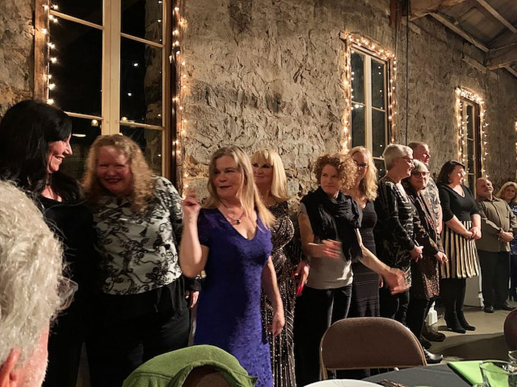 New Nevada City Chamber Board of Directors being sworn in on February at The Miners Foundry in Nevada City.