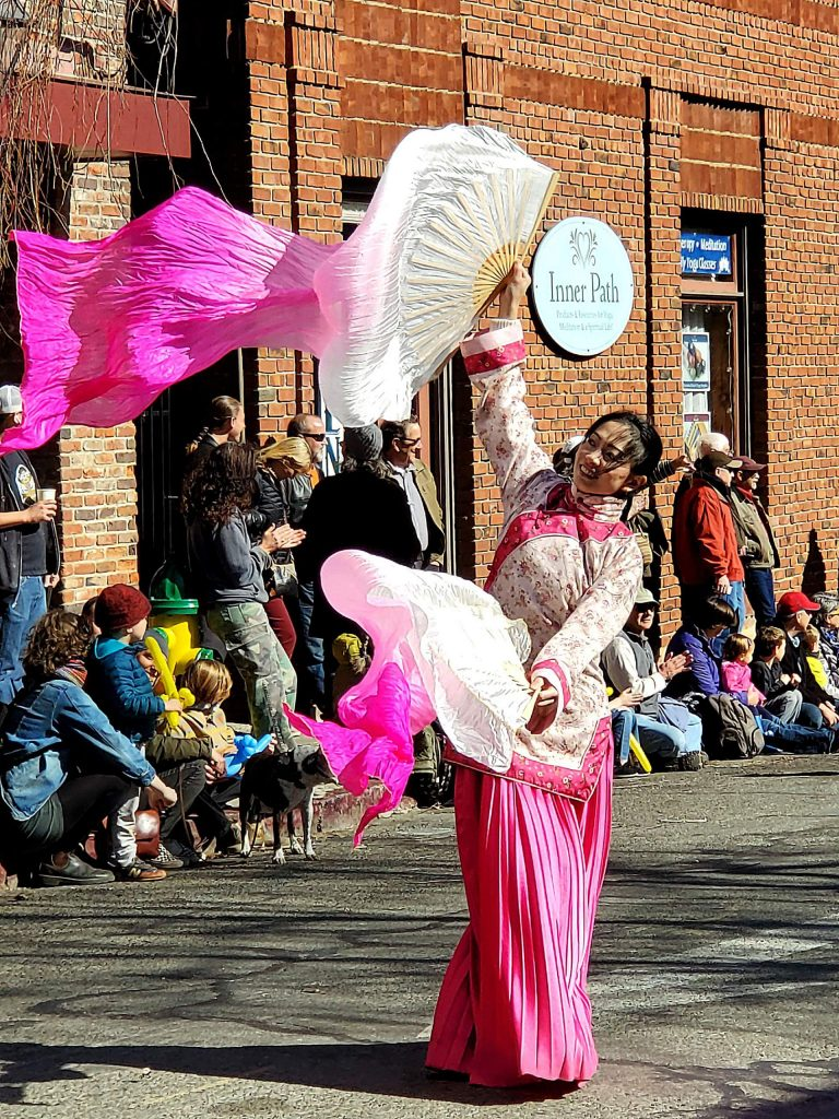 A beautiful day & Chinese New Year parade in Nevada City on Sunday.