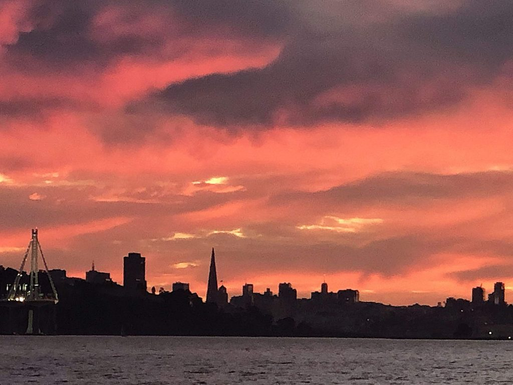 Taken from my second home (a sailboat) on the San Francisco Bay.