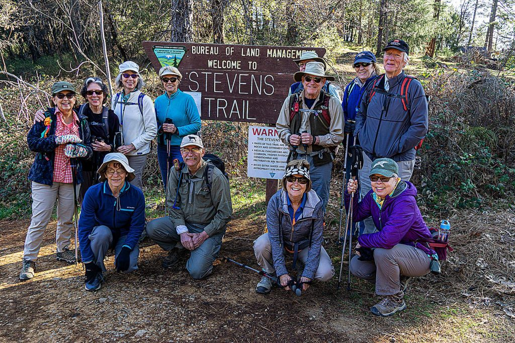 The Gold Country Welcome Club's Hiking Group was on Stevens Trail enjoying the river and the emerging wildflowers.