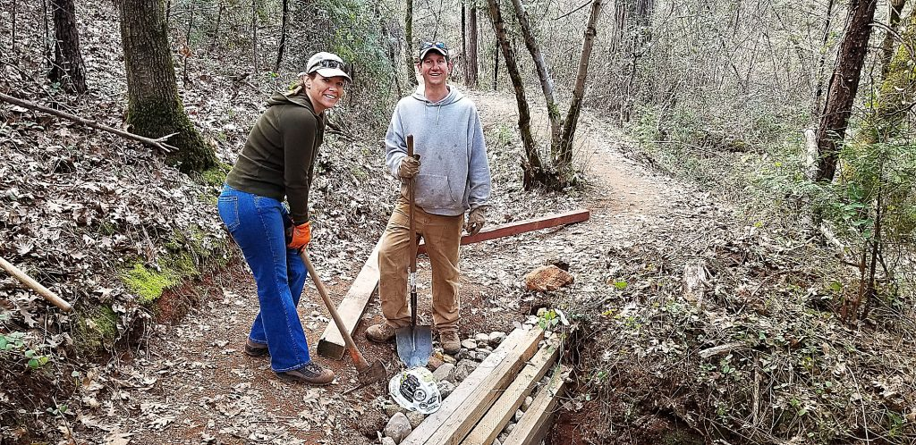 Bear Yuba Land Trust workday on the Kenny Ranch Trail in Grass Valley.