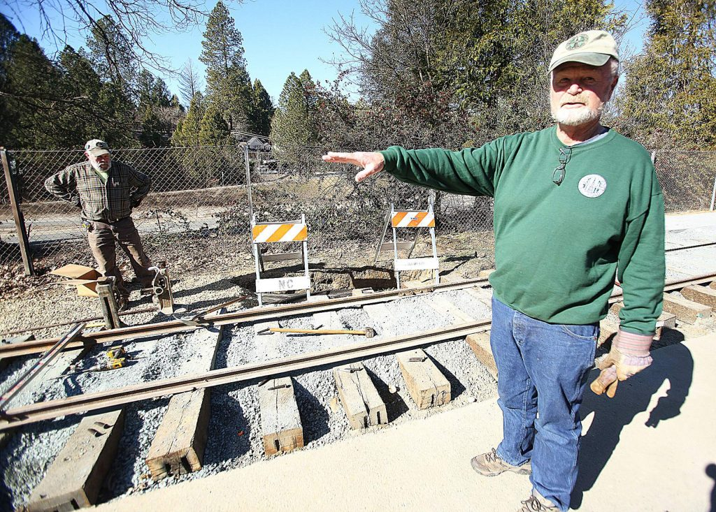 Nevada County Narrow Gauge Railroad Museum director John Christiansen has been hard at work along with other museum volunteers to rebuild a section of track that once existed along Sacramento Street.