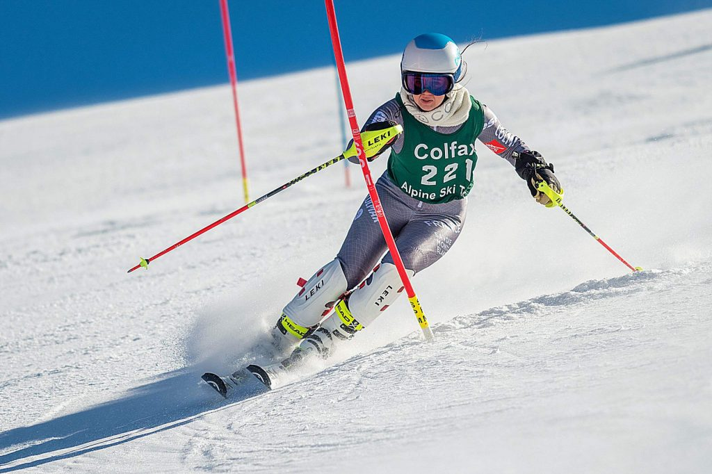 Colfax's Karina Martel earned first place at a slalom race held at Boreal Monday.