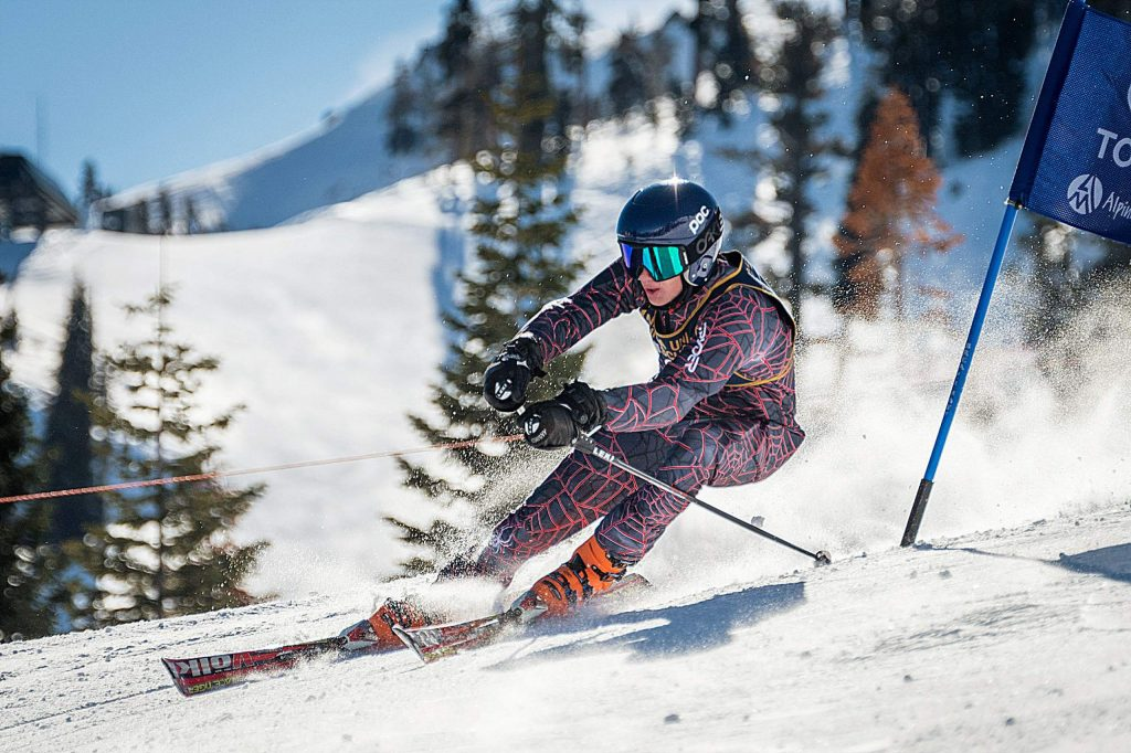 Nevada Union's Camden Breaux took third place overall in a giant slalom event held at Alpine Meadows, Monday.
