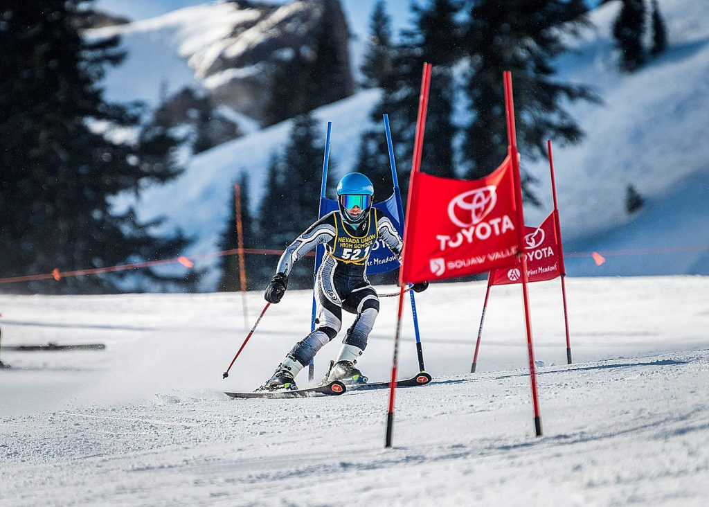 Nevada Union's Judah Good placed sixth overall in a giant slalom event held at Alpine Meadows, Monday.