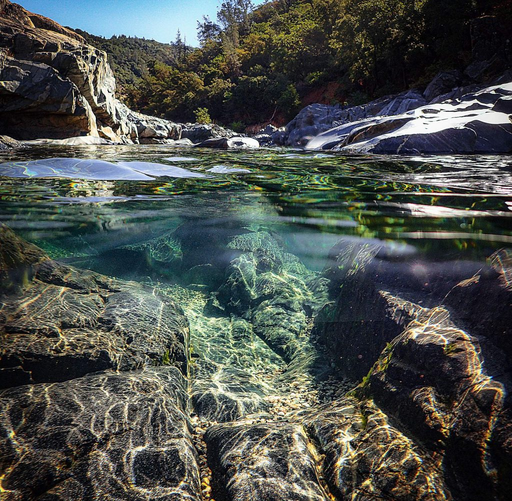 Janet has a love of water and her recent photo of the South Yuba River at Bridgeport illustrates her up-close and visual relationship with water.