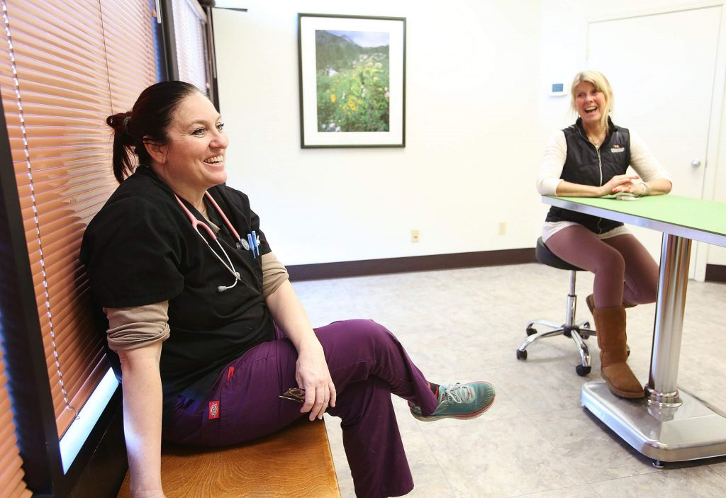 Brunswick Veterinary Clinic vets Dr. Tarra Williams, and Dr. Rebecca Hahn discuss some of their plans for the practice.
