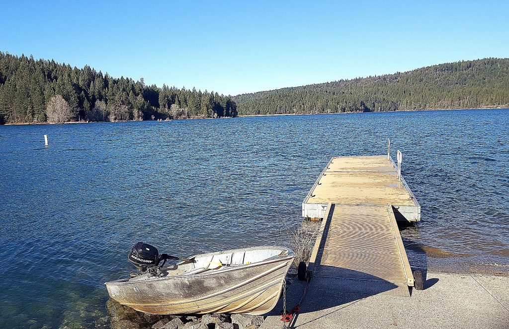 Not even the ducks are out on Scotts Flat Lake on a crisp, windy Monday morning with temperatures dipping into the high 20s. Highs are expected to climb throughout the week, topping out at 61 on Friday in Grass Valley. No rain is forecast for the next several days.