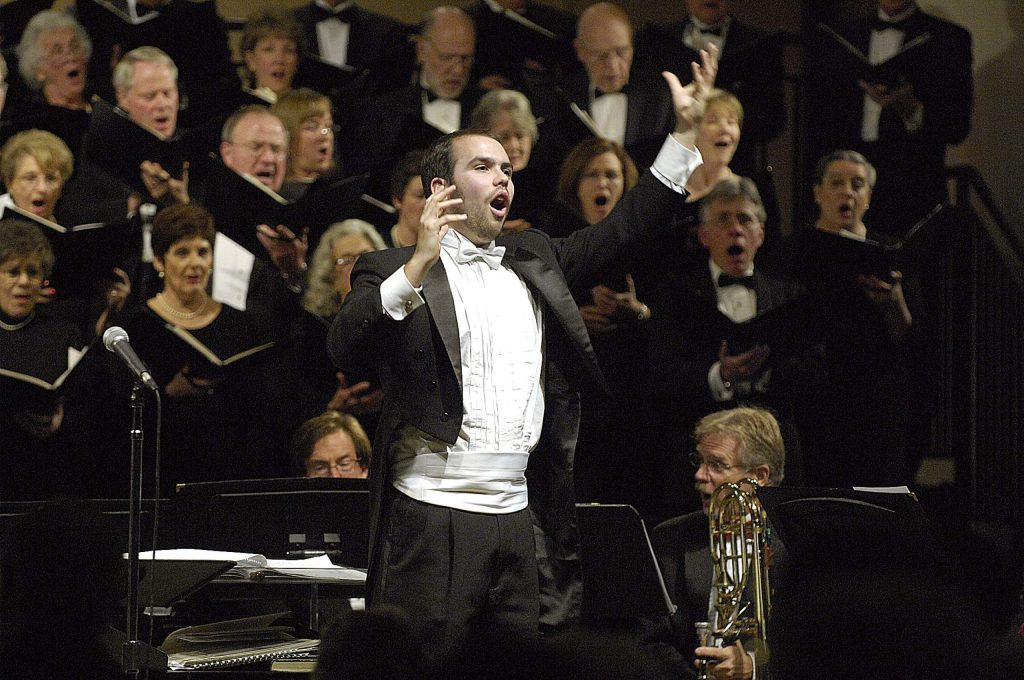 Ryan Murray, the Artistic Director and Conductor for Music in the Mountains.
