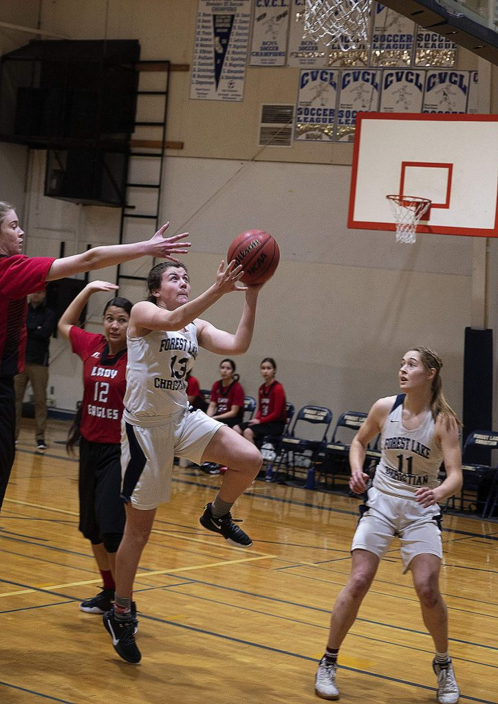 Forest Lake Christian's Ali McDaniel (13) was named to the 2019-20 All-CVCL First Team.