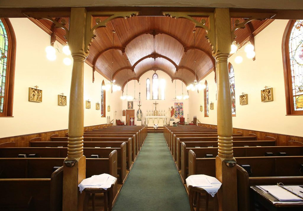 St. Canice Catholic Church has stopped conducting Mass, but has allotted times when parishioners can drop in for prayer sessions and are encouraged to practice proper social distancing.