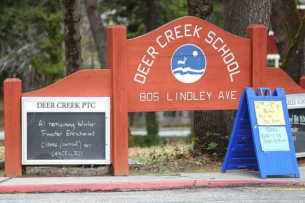 Nevada City School District schools including Deer Creek School began their distance education program this week in Nevada City.