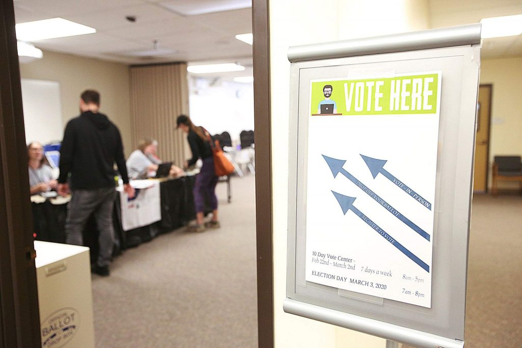 Folks were eager to take advantage of voting on a Saturday, the day that early voting opened in Nevada County.