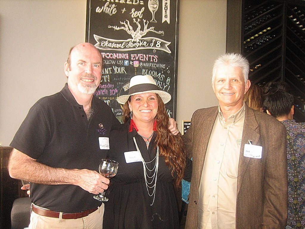 Three local winemakers, left to right, Mark foster of Nevada City Winery, Teena Wilkens of Vina Castellano Winery and Mario Clough of Lucchesi Winery.