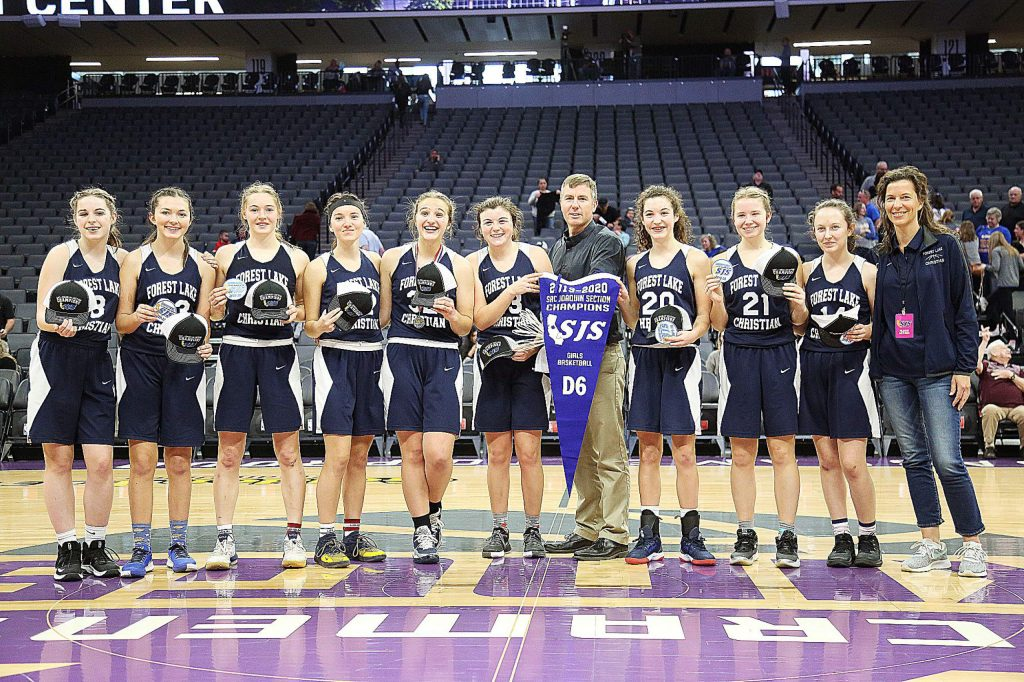 The Forest Lake Christian varsity girls basketball team won the Sac-Joaquin Section Division VI title Thursday at the Golden 1 Center in Sacramento.