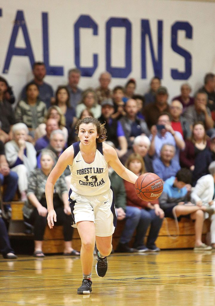 Forest Lake Christian's Ali McDaniel did a little bit of everything on the court to help the Lady Falcons earn a win over Credo in the first round of the NorCal Tourney Wednesday. McDaniel scored 15 points, grabbed 11 rebounds, nabbed six steals and doled out six assists in the victory.