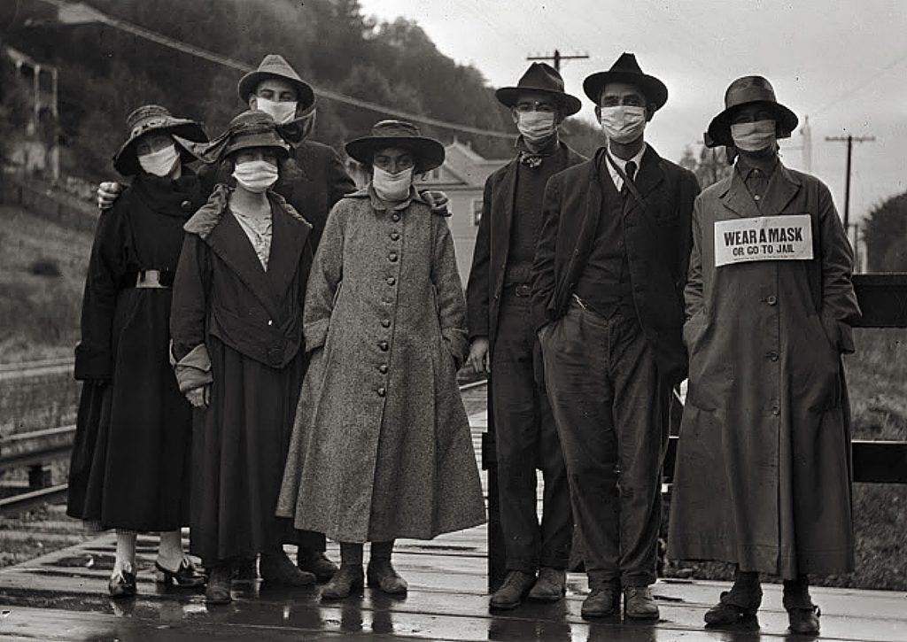 In Nevada City and Grass Valley, as well as in many other communities, failure to wear a mask during the 1918 Spanish influenza pandemic could result in imprisonment and a large fine.