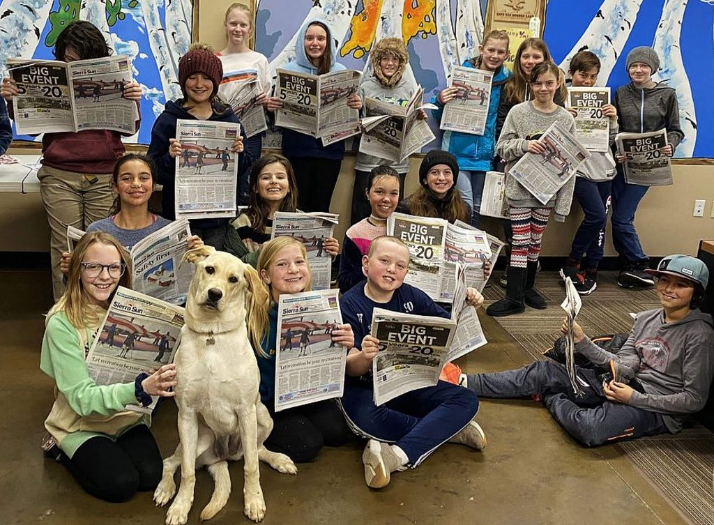 Daisy stole the show during a Forest Charter School field trip to the Sierra Sun, leading to a paparazzi-like encounter weeks later on the playground when several of the students spotted her during recess. After all, everybody loves Daisy.