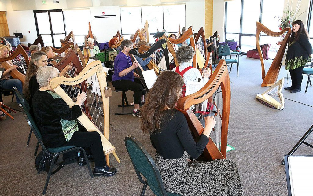 Harpists ranging from beginner to intermediate and advanced were able to take lessons from world renowned professional harpist Christina Tourin.