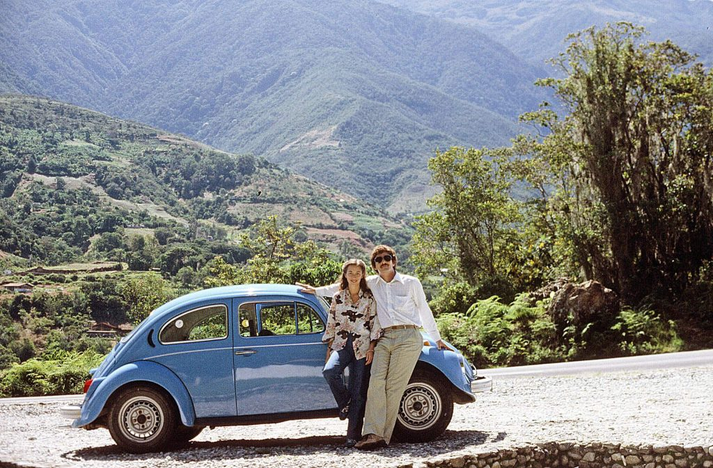 Laura and Ken Bigham are celebrating their 40th wedding anniversary. The newlyweds worked in South America, and this photo was taken during a weekend getaway in the Venezuelan Andes.