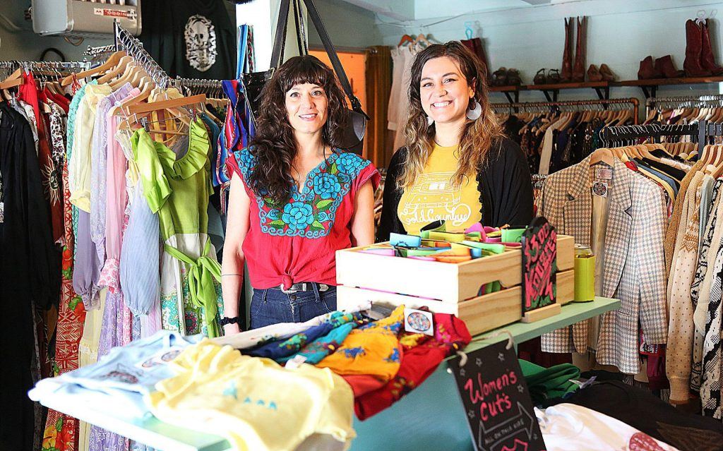 Stephanie Arduini and Annie Kendall are the two behind Cosmic Shark Clothing and are happy to have opened their shop in downtown Grass Valley which features original designs of theirs and fellow artists as well as a collection of vintage clothing.